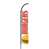 Burgers Flex Banner EVO Flag Single Sided Print