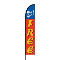 Buy 1 Get 1 Free Flex Banner EVO Flag Single Sided Print