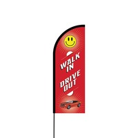 Walk In Drive Out Flex Banner Flag - 11ft