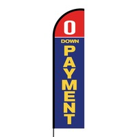 0 Down Payment Flex Banner Flag - 16ft (Single Sided)