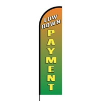 Low Down Payment Flex Banner Flag - 16ft (Single Sided)