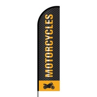 Motorcycle Flex Banner Flag - 16ft (Single Sided)