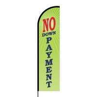 No Down Payment Flex Banner Flag - 16ft (Single Sided)