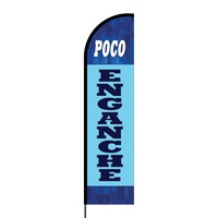 Poco Enganche Flex Banner Flag - 16ft (Single Sided)