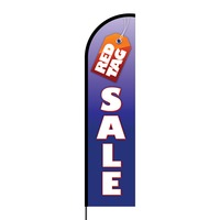 Red Tag Flex Banner Flag - 16ft (Single Sided)