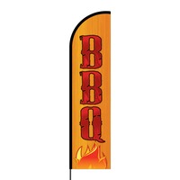 BBQ Flex Banner Flag - 16ft (Single Sided)