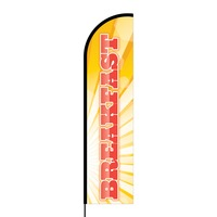 Breakfast Flex Banner Flag - 16ft (Single Sided)