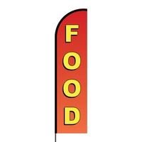 Food Flex Banner Flag - 16ft (Single Sided)