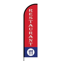Restaurant Flex Banner Flag - 16ft (Single Sided)