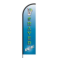 Shaved Ice Flex Banner Flag - 16ft (Single Sided)