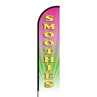 Smoothies Flex Banner Flag - 16ft (Single Sided)