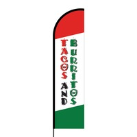 Tacos and Burritos Flex Banner Flag - 16ft (Single Sided)