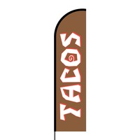 Tacos Flex Banner Flag - 16ft (Single Sided)