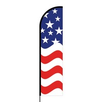 American Flex Banner Flag - 16ft (Single Sided)