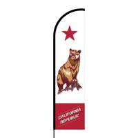 California Republic Flex Banner Flag - 16ft (Single Sided)