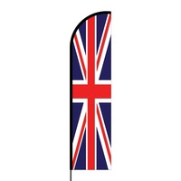 Union Jack Flex Banner Flag - 16ft (Single Sided)