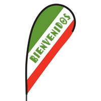 Bienvenidos Flex Blade Flag - 09' Single Sided