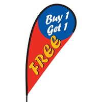 Buy 1 Get 1 Free Flex Blade Flag - 09' Single Sided