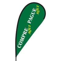 Compre Aqui Pague Aqui Flex Blade Flag - 09' Single Sided