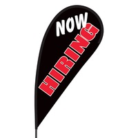 Now Hiring Flex Blade Flag - 09' Single Sided