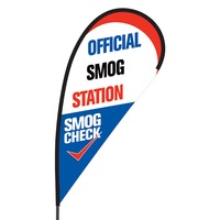 Official Smog Station Flex Blade Flag - 09' Single Sided