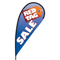 Red Tag Sale Flex Blade Flag - 09' Single Sided