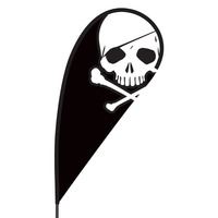 Skull Flex Blade Flag - 09' Single Sided
