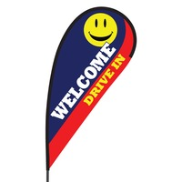 Welcome Drive In Flex Blade Flag - 09' Single Sided