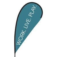 Work Live Play Flex Blade Flag - 09' Single Sided