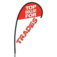 Top Dollar for Trades Flex Blade Flag - 09' Single Sided