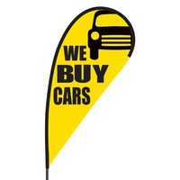 We Buy Cars Flex Blade Flag - 09' Single Sided