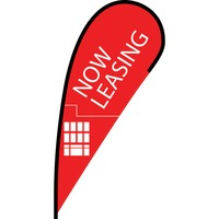 Now Leasing Flex Blade Flag - 12'