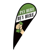 Pay Here Buy Here Flex Blade Flag - 12'