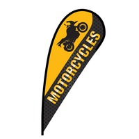 Motorcycles Flex Blade Flag - 12'
