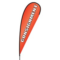 Consignment Flex Blade Flag - 15'