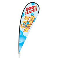 Hand Car Wash Flex Blade Flag - 15'