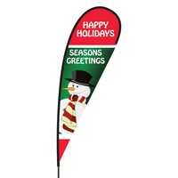Happy Holidays Flex Blade Flag - 15'