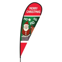 Merry Christmas Flex Blade Flag - 15'