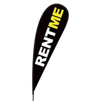 Rent Me Flex Blade Flag - 15'
