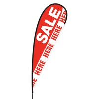 Sale Here Flex Blade Flag - 15'