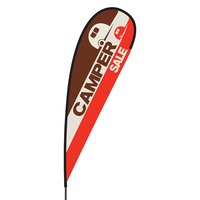 Camper Sale Flex Blade Flag - 15'