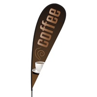 Coffee Flex Blade Flag - 15'