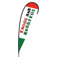 Tacos & Burritos Flex Blade Flag - 15'