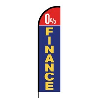 0% Finance Flex Banner Flag - 16ft (Single Sided)