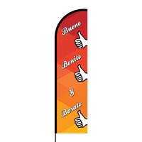 Bueno, Bonito y Barato Flex Banner Flag - 16ft (Single Sided)