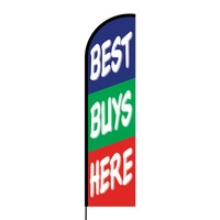 Best Buys Here Flex Banner Flag - 16ft (Single Sided)