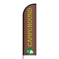 Campground Flex Banner Flag - 16ft (Single Sided)