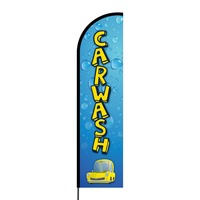 Car Wash Flex Banner Flag - 16ft (Single Sided)