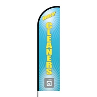 Dry Cleaners Flex Banner Flag - 16ft (Single Sided)