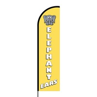 Elephant Ears Flex Banner Flag - 16ft (Single Sided)
